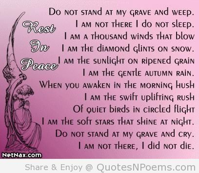 Quotes Sayings Phrases » Sad Quotes About Death Of A Grandma ...