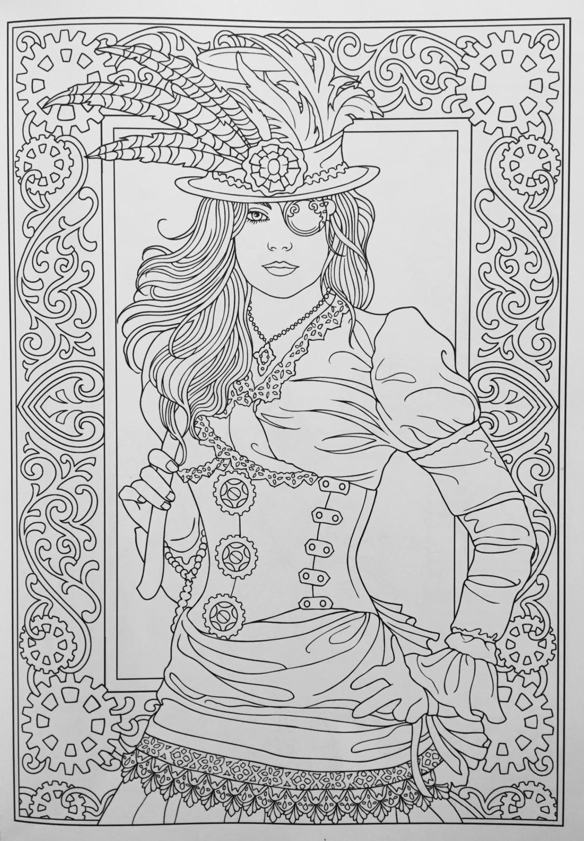 Creative Haven Steampunk Fashions Coloring Book (Creative ...
