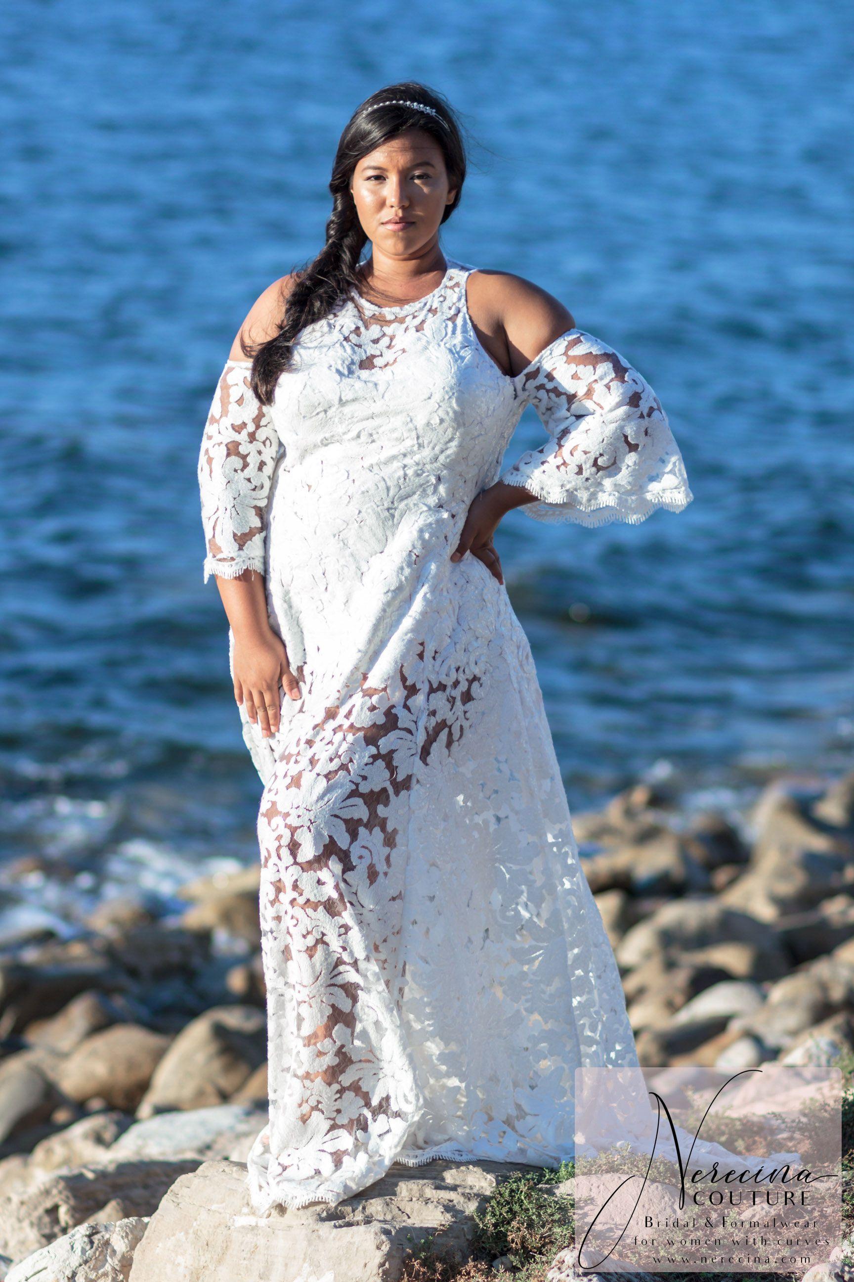 Nerecina Couture Plus Size Wedding Dress Cold Shoulder Wedding Dress Plus Size Wedding Wedding Gowns Lace [ 2592 x 1728 Pixel ]