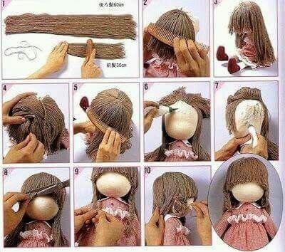 Boneca Puppen Basteln Puppen Puppenhaar