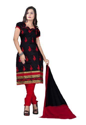 Fabdeal Indian Designer Chanderi Silk Black Embroidered Salwar Kameez Fabdeal, http://www.amazon.de/dp/B00INWIE6E/ref=cm_sw_r_pi_dp_Auuntb18KMFAH