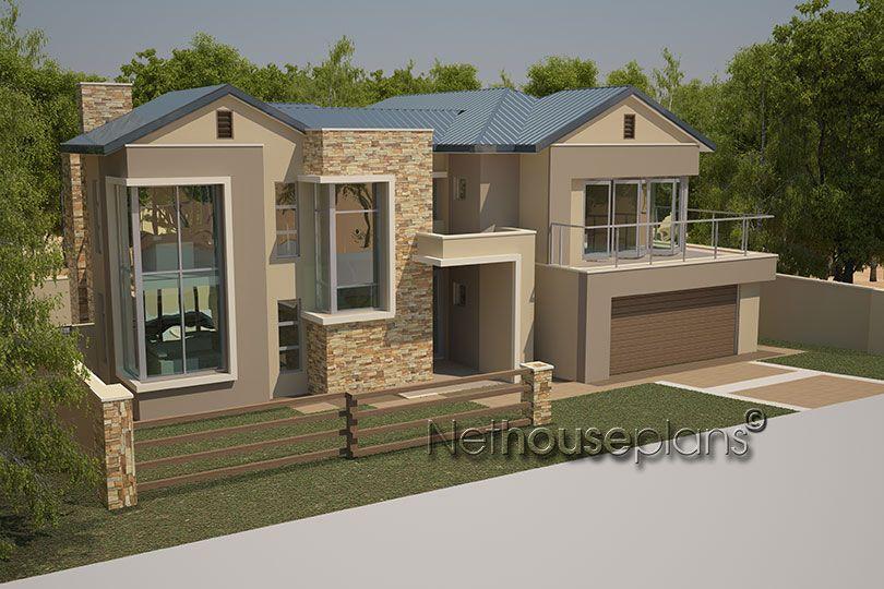 Modern Contemporary House Plan Ground Floor Double Garage Kitchen Scullery Staff Room Wit Double Storey House Plans Modern House Plans Brick House Designs