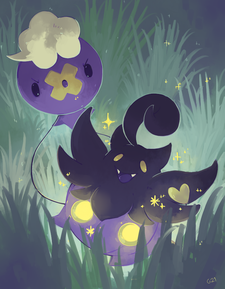5cc766498 [Day 9] Pumpkaboo and Drifloon by germy21.deviantart.com on @deviantART