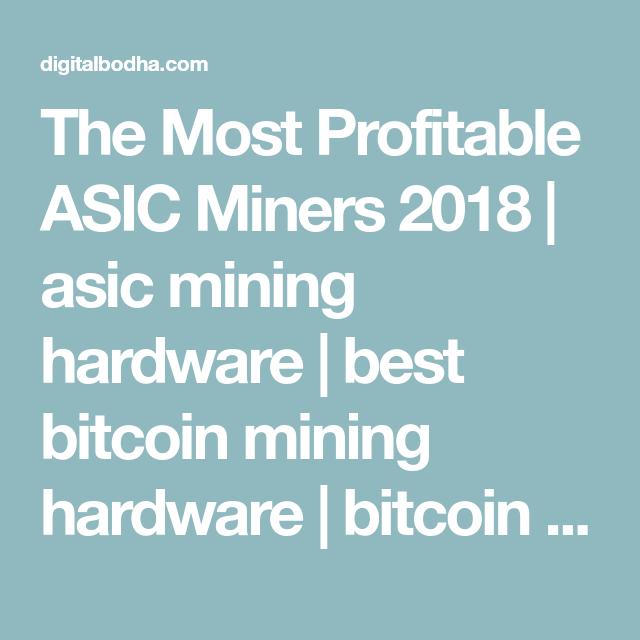 the most profitable bitcoin miner