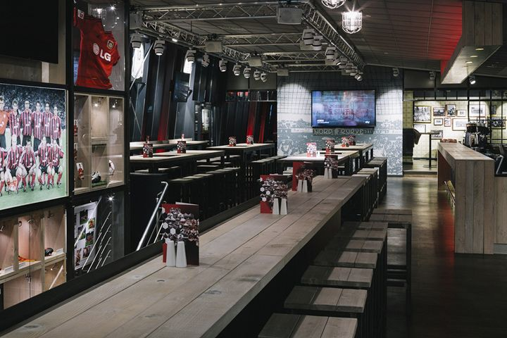 Schwadbud Bayer 04 Leverkusen By Schwitzke Group Leverkusen Germany Sports Showroom Store Design Branding Branding Bar Sport Bar Design Design Retail Design