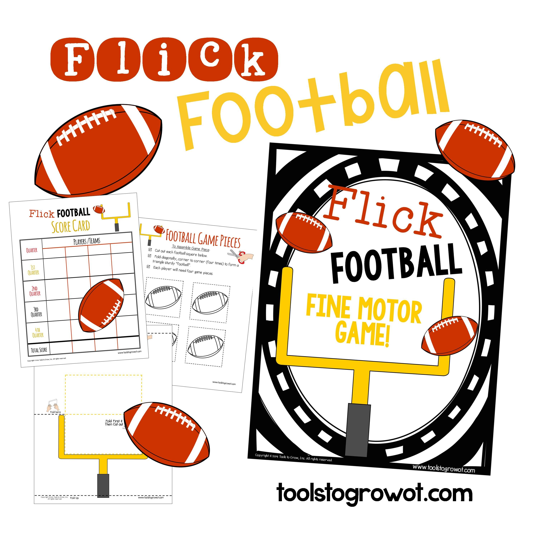 Flick Football Fine Motor Game Olstogrowot