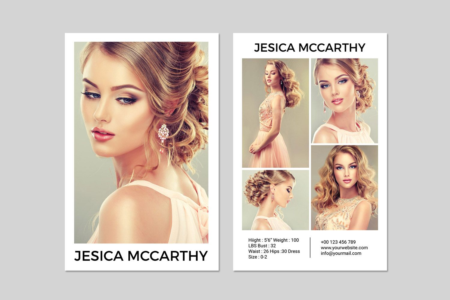 Modeling Comp Card Fashion Model Comp Card Template Etsy Model Comp Card Card Templates Free Card Template