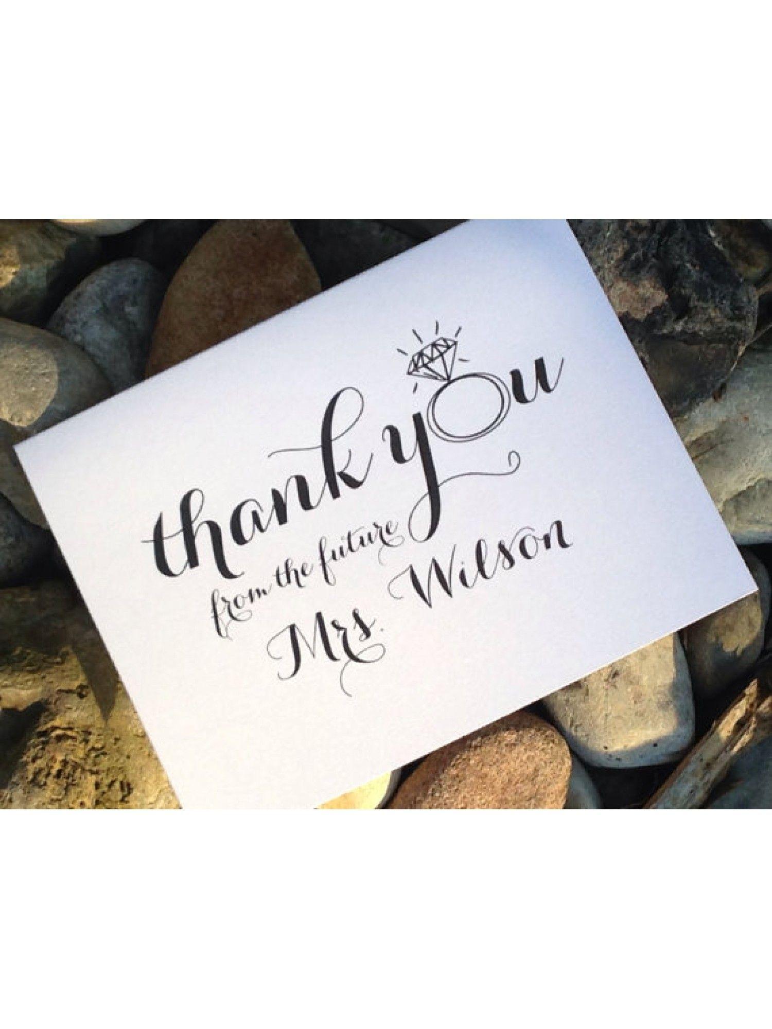 Despedida de soltera notas de agradecimiento con sobres