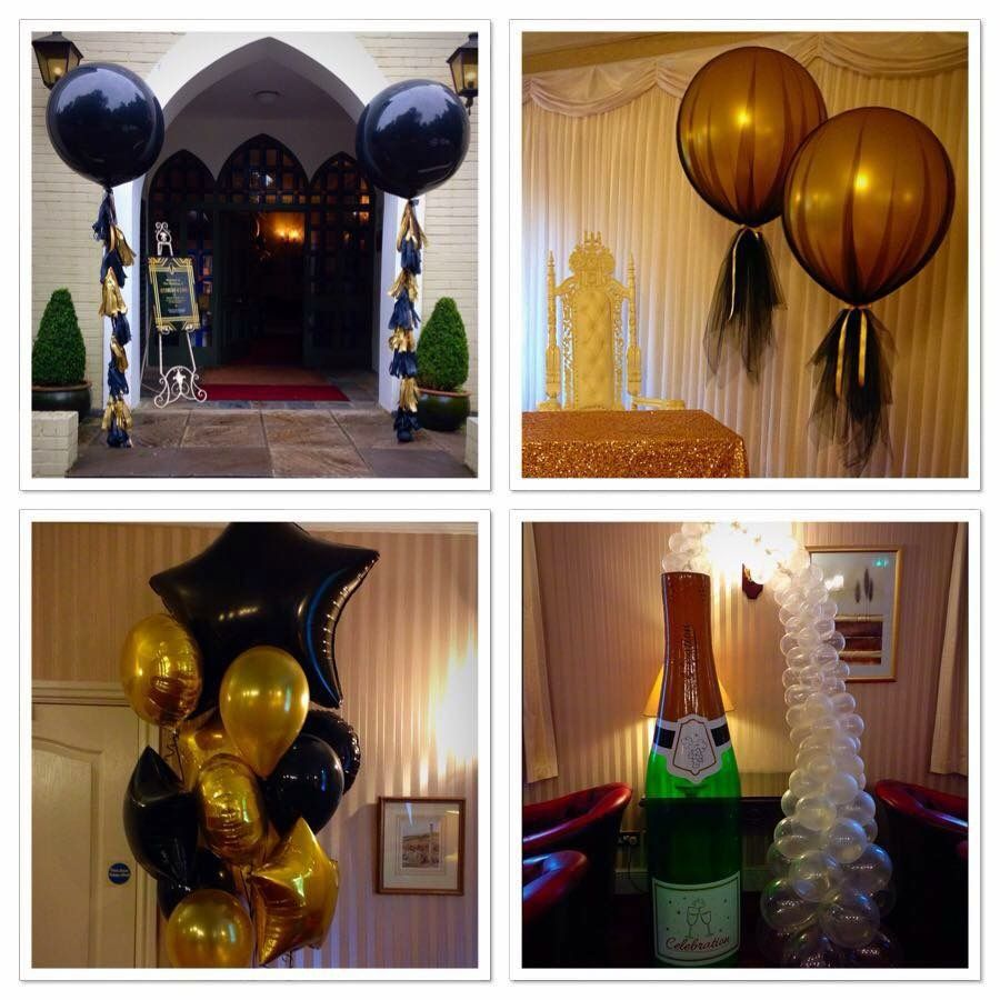 Gatsby themed wedding balloons.  Created by BalloonBlooms.co.uk