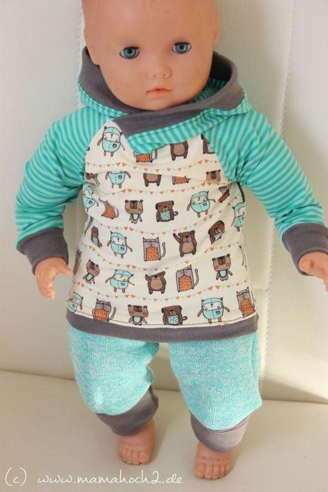 Puppensachen nähen - Schnittmuster verkleinern #dolldresspatterns
