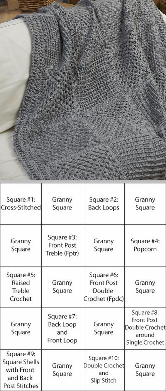 Free Crochet throw pattern from Red Heart. Description from ...