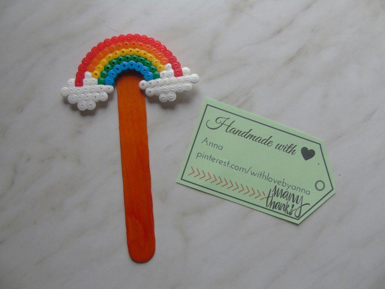 Bookmark midi hamabeads rainbow segnalibro midi hamabeads rainbow