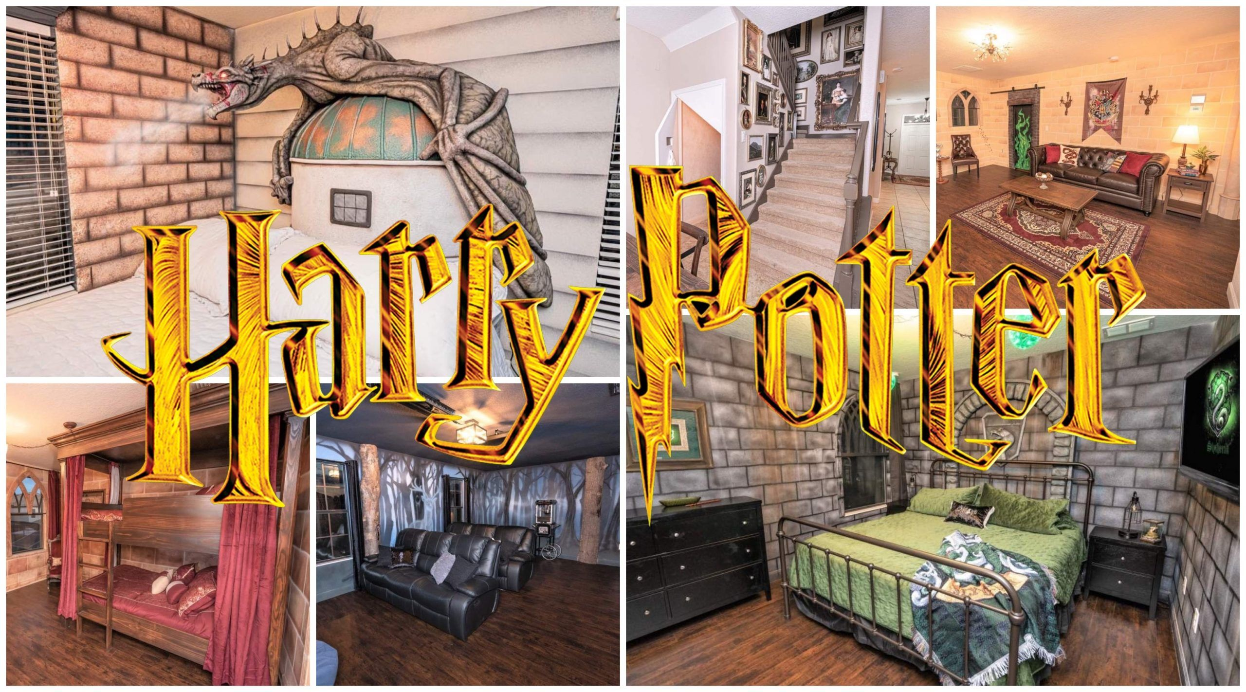 Book A Magical Stay In This Harry Potter Themed Airbnb Disney College At Home Movie Theater Disney World Parks