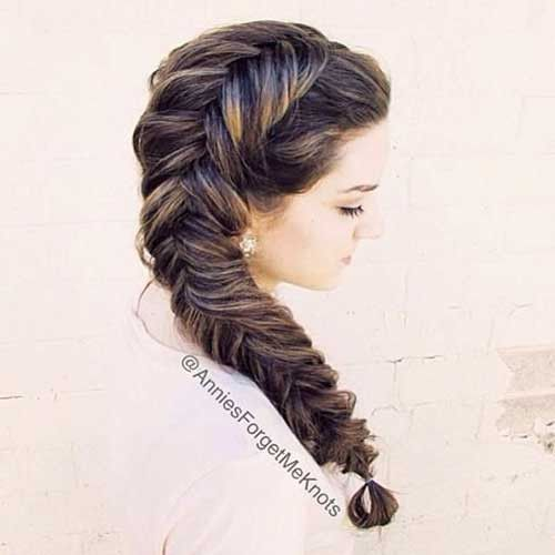98 Amazing Fishtail Braided Hairstyles 2019,  #Amazing #Braided #braidedhairstyletutorials #Fishtail #Hairstyles
