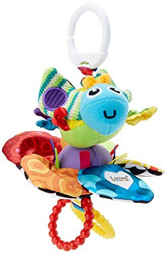 Suitable from Birth Lamaze Flutterbug Clip On Pram and Pushchair Newborn Baby Toy Butterfly