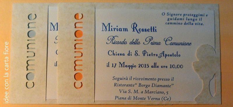 Invito Biglietto Prima Comunione Handmade Cards Crafts