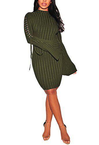 Women Sexy Sweater Pencil Dress Mock Neck Long Sleeve Bandage Knit Stretchable Slim Fit Zipper Cardigan