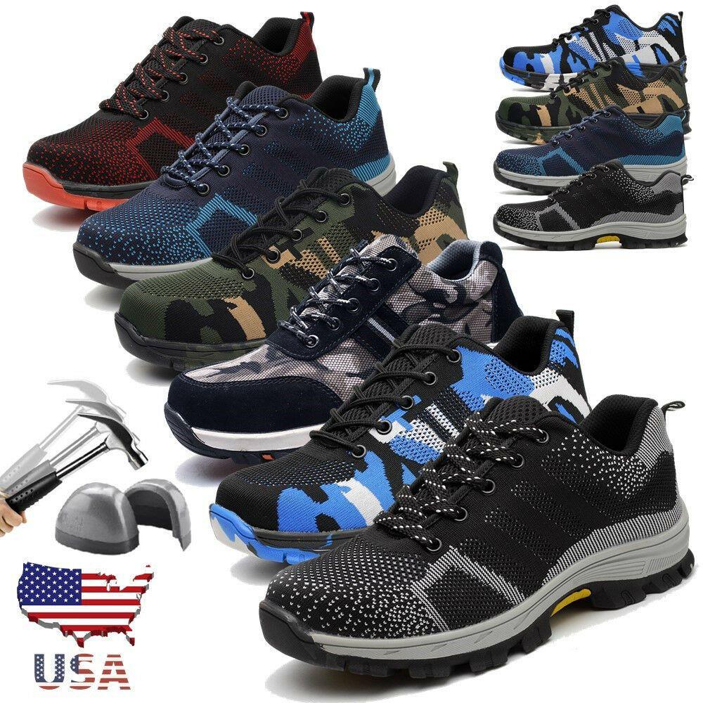 Hommes Baskets De Sécurité Chaussures de travail Steel Toe Cap Randonneur Bottines