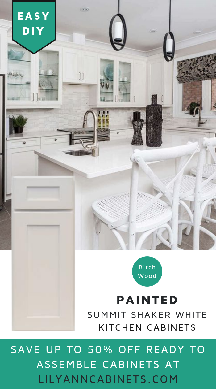 Made of birch wood. Painted Summit Shaker White Kitchen ...