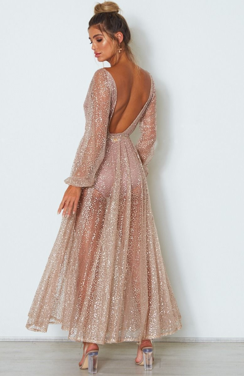 Lucky Star Glitter Gown Rose Gold  69214283bdc3