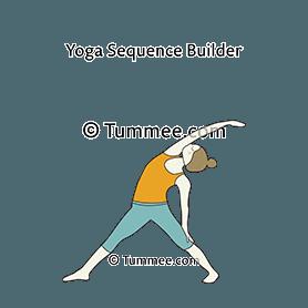 reverse triangle pose yoga viparita trikonasana  yoga
