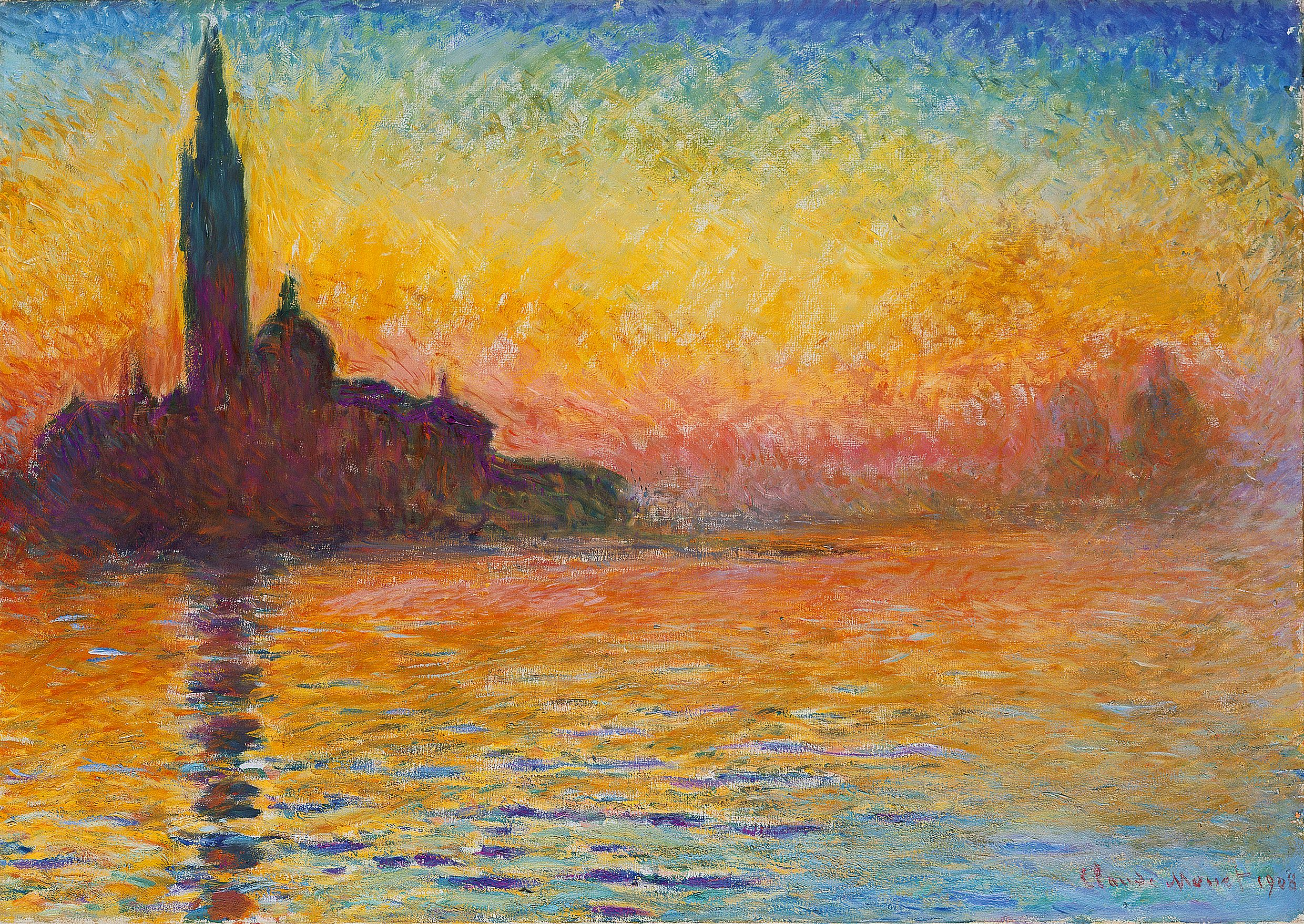 Monet, Saint-Georges majeur au crépuscule | Monet art, Claude monet  paintings, Monet oil paintings