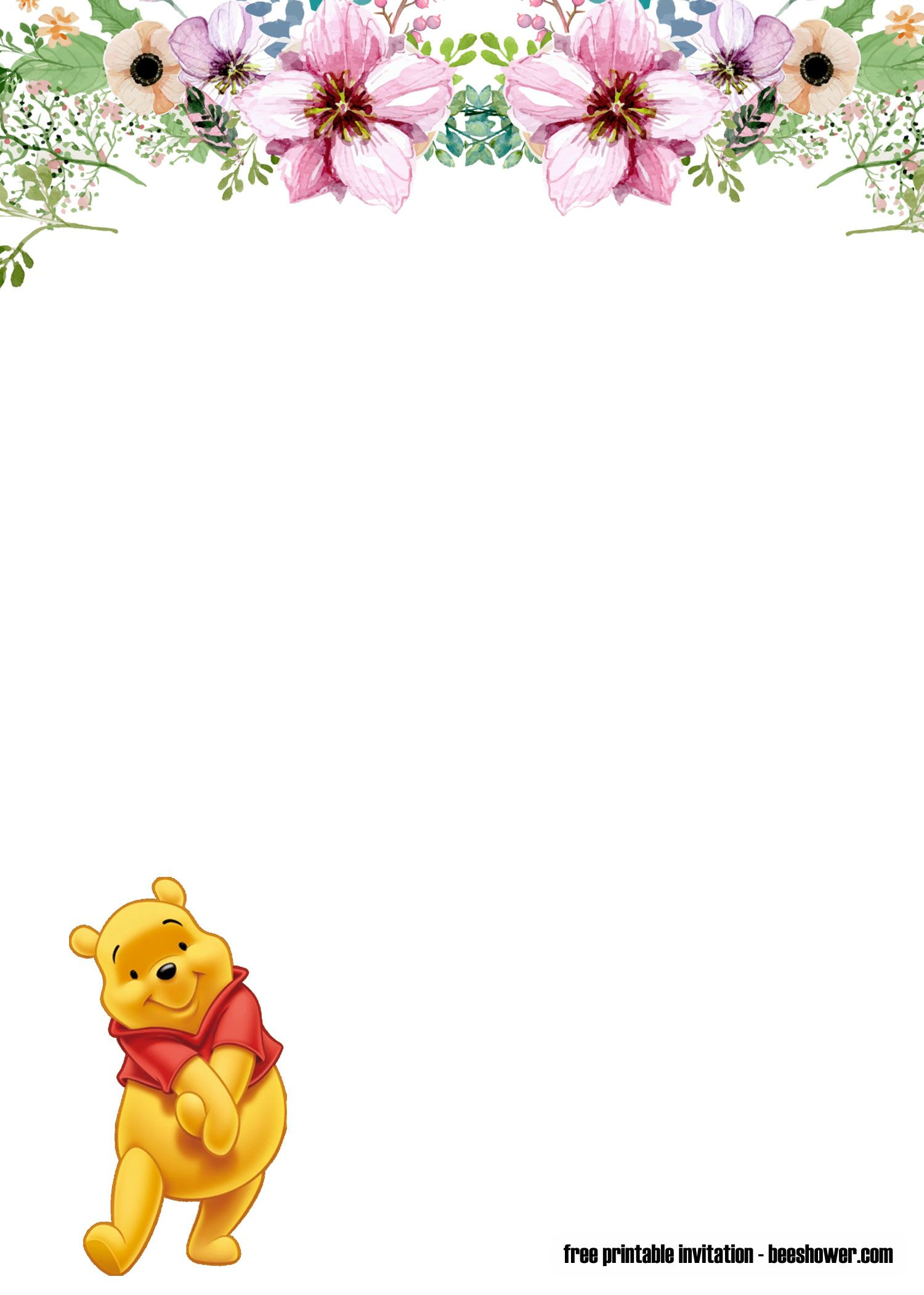 photo about Printable Winnie the Pooh Baby Shower Invitations referred to as Cost-free Winnie the Pooh kid shower invites Bagvania