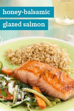 Honey-Balsamic Glazed Salmon – Balance a sweet glaze with a splash of balsamic vinaigrette in this quick and easy seafood recipe. This honey-glazed salmon is a simple way to make restaurant-quality dishes at home—and in just 20 minutes!