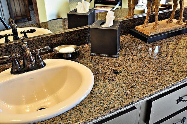 Top Mount Sink On Granite Countertop