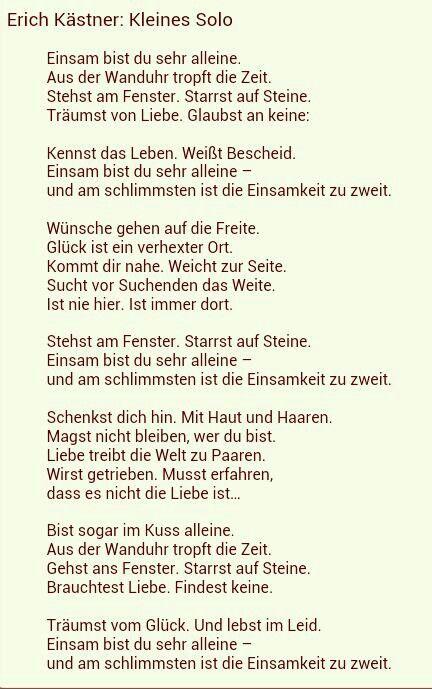 Erich Kästner Kleines Solo … | Pinteres…