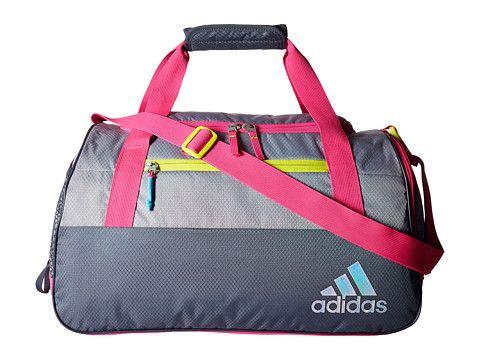 ed6ed303c2 adidas Squad III Duffel Deepest Space Grey Shock Pink Shock Slime -  Zappos.com Free Shipping BOTH Ways