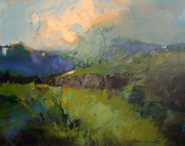 Acrylic Landscapes By Sahin Karakoc Draw As A Maniac Landscape Paintings Contemporary Landscape Painting Canvas Painting Landscape
