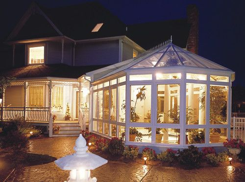 Beautiful Gazebo The Roof Is Glass Or Plexiglass Beautiful For Night Too Much Light For Daytime Victorian Conservatory Sunroom Conservatory