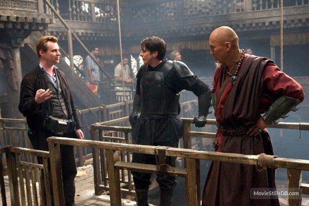 Batman Begins Behind The Scenes Photo Of Christopher Nolan