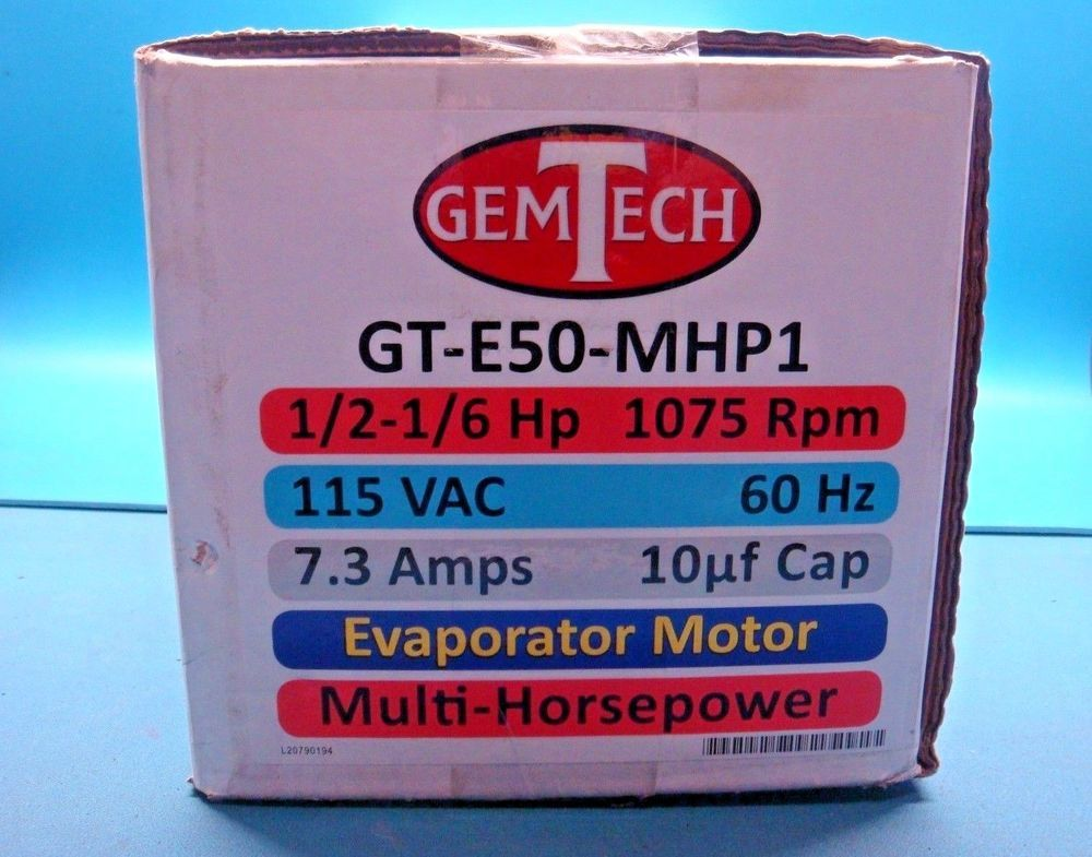 (1) GEMTECH GTE50MHP1 115V 1/2HP 1075RMP FAN BLOWER
