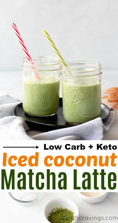 Coconut Keto Iced Matcha Latte Iced matcha latte, Iced