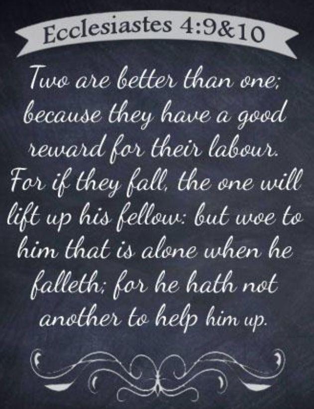 Ecclesiastes 4 9 10 When You Work As A Team Get So