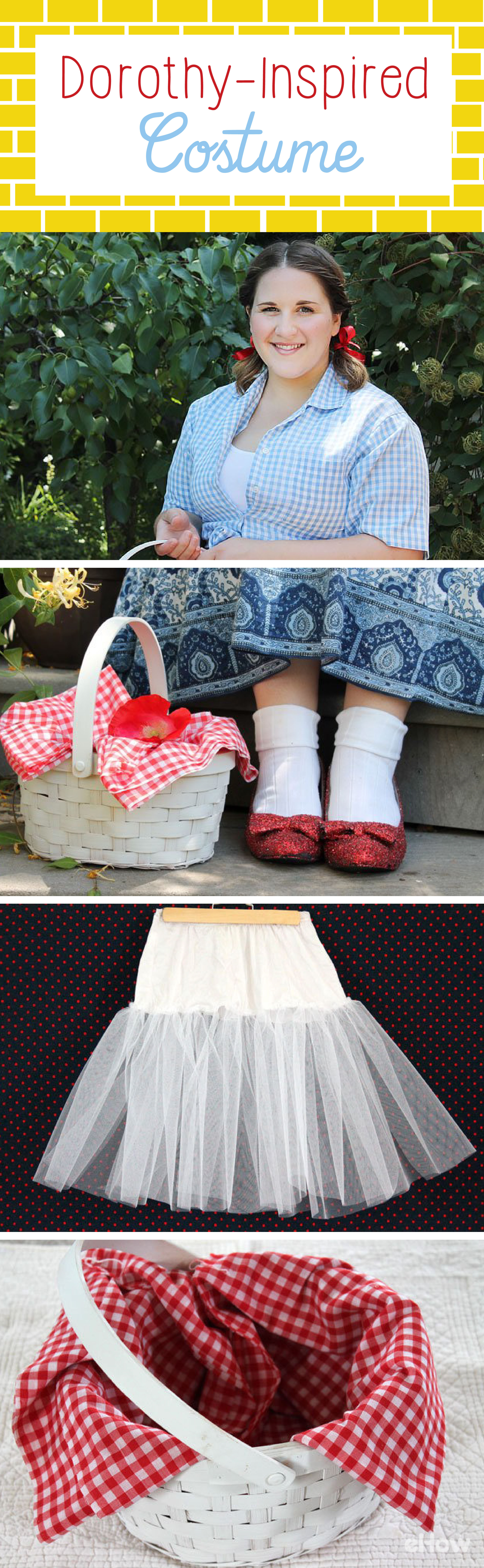 DIY No-Sew Dorothy-Inspired Costume | Costumes, Halloween costumes ...