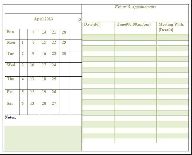 Free Weekly Calendar Templates Printable Calendar template - Free Weekly Calendar