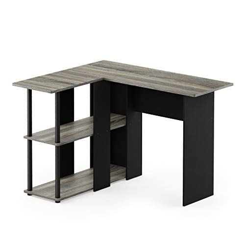 Best Furinno 17092Gyw Bk Abbott L Shape Desk With Bookshelf 640 x 480