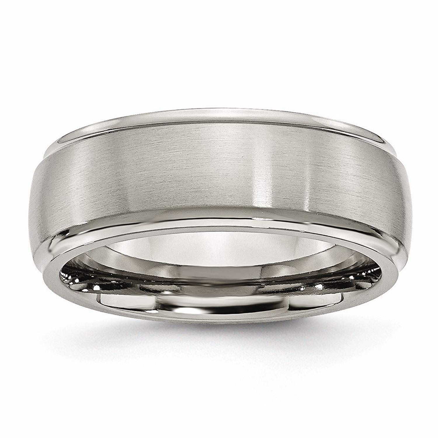 Bridal Titanium Ridged Edge 6mm Polished Band
