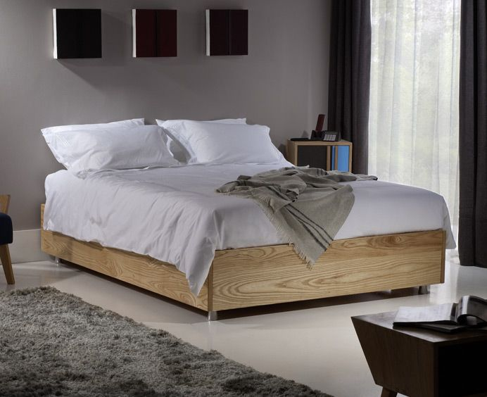 Ash Storage Bed Without A Headboard With Images Bedroom