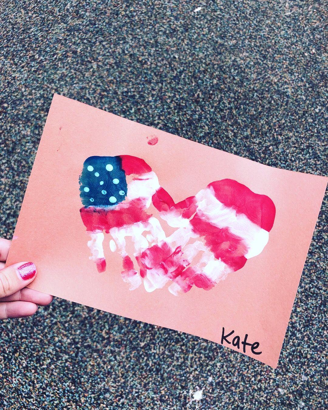 Memorial Day 4th Of July Handprint Art