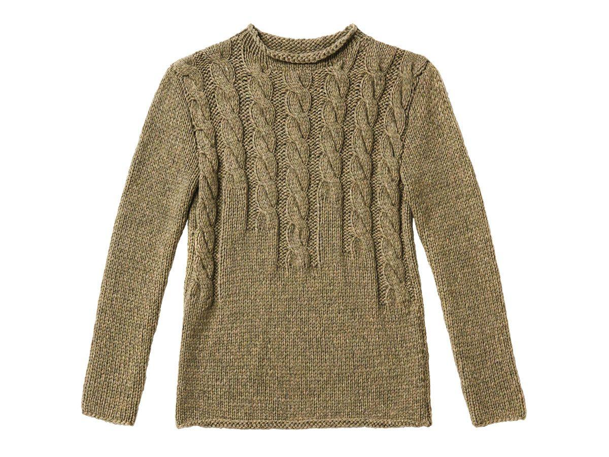 Strickmuster: Braunen Pullover mit Zopfmuster stricken | brauner ...