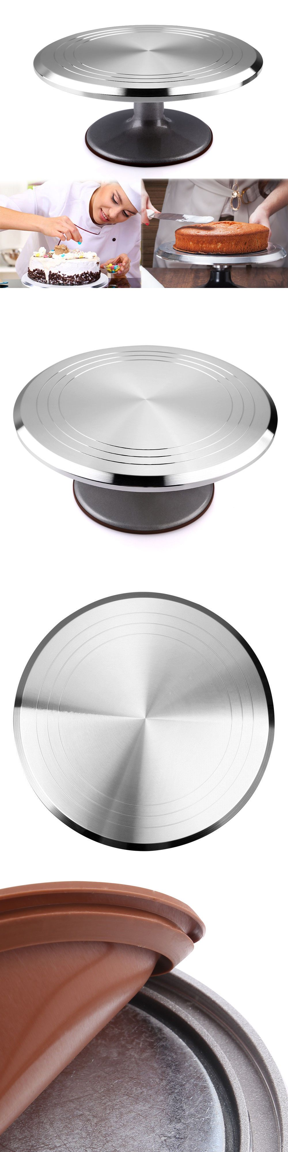 Cake stands 177010 12 revolving rotating cake turntable