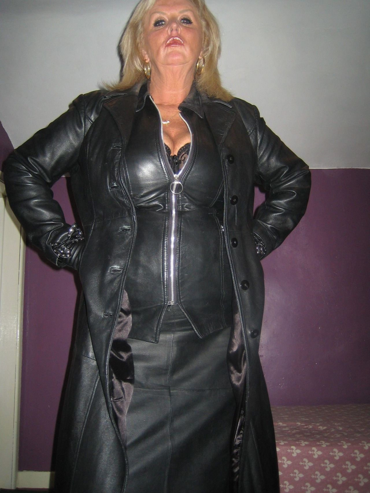 Mature Female Authority  Photo  Leather Dress -4130