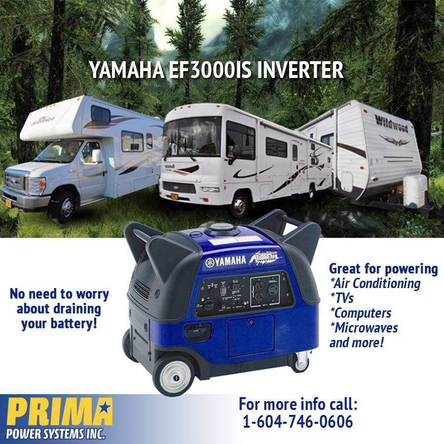 Keep cool in your RV this summer with your AC ON! #Yamaha