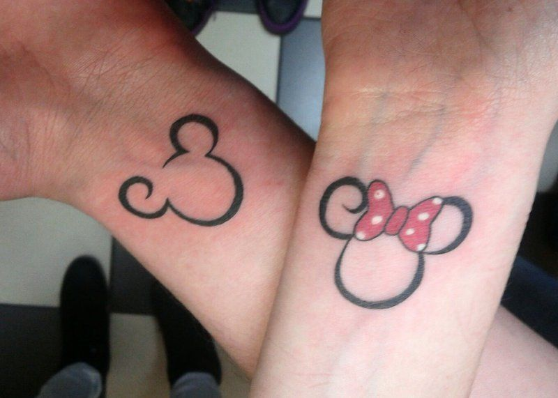Mickey And Minnie Couple Tattoo By Electronic Sindeviantartcom On