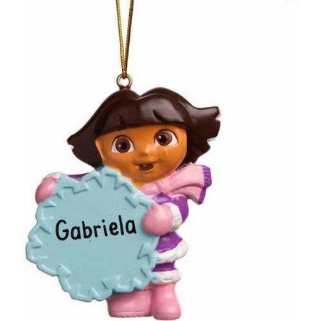 Personalized Dora the Explorer Ornament, Multicolor