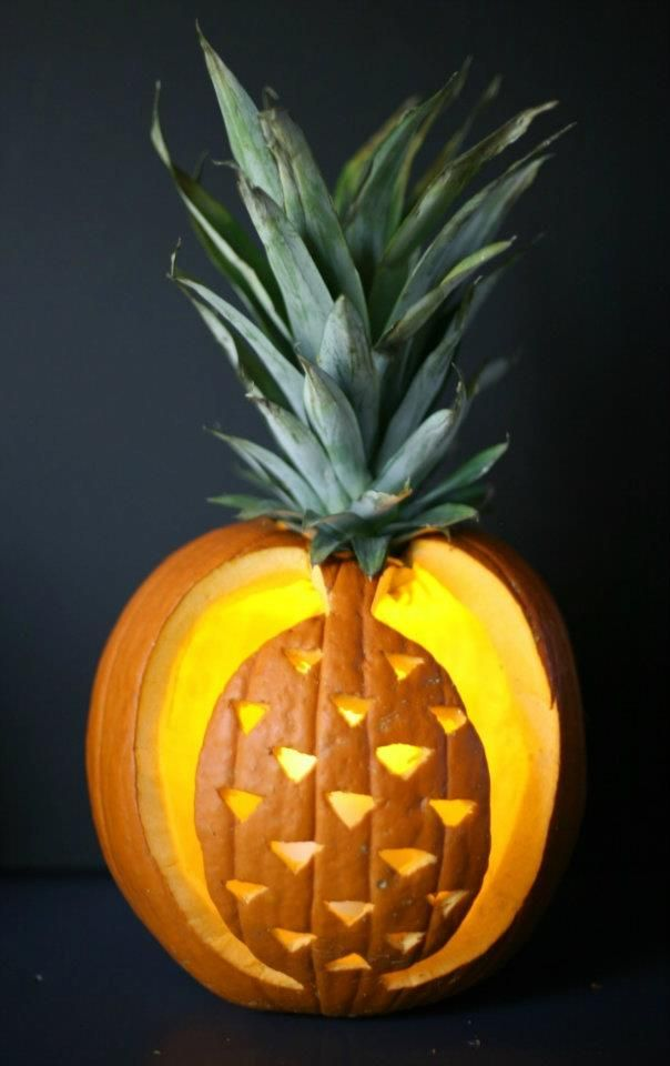 How cute is this a pineapple pumpkin halloween fall